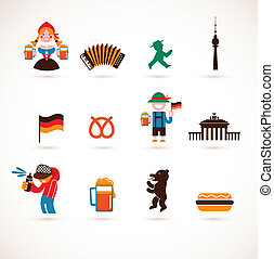 germania, collezione, icone