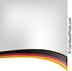 germania, fondo, bandiera