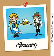 germania, viaggiare, polaroid, persone