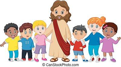 gesù, bambini, cristo