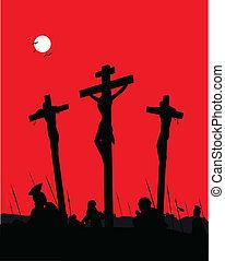 gesù cristo, -, crucifixion.