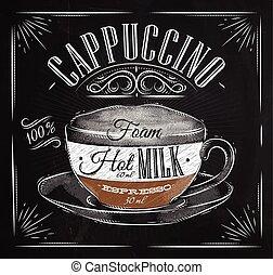 gesso, manifesto, cappuccino