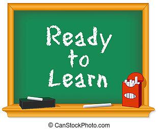 gesso, pronto, asse, imparare