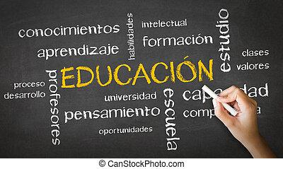 gesso, (spanish), educazione, disegno