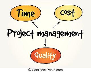gestione progetti, mente, mappa