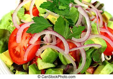 gettato, delizioso, insalata
