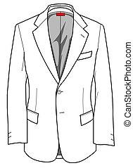 giacca, piastre, moda