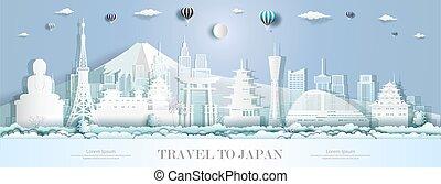 giappone, architettura, limiti, moderno, asia., turismo
