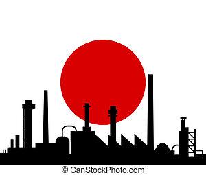 giappone, industria, bandiera