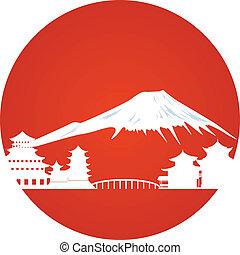 giapponese, paesaggio