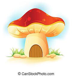 giardino casa, fungo