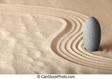 giardino, forma, zen, rilassamento, symplicity, salute, armonia, fondo, meditazione, equilibrio