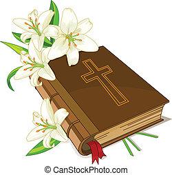 giglio, bibbia, fiori