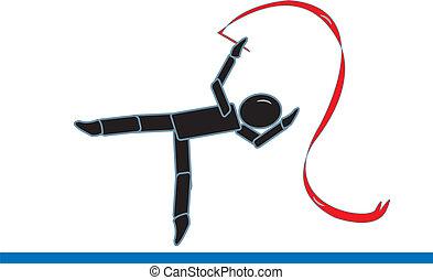 ginnasta, figura bastone