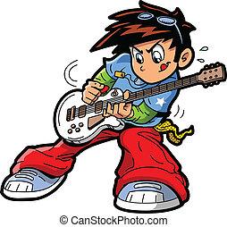 giocatore chitarra, anime, manga