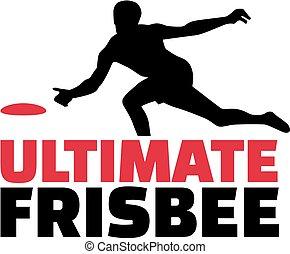 giocatore, frisbee, parola, ultimate