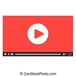 giocatore, interfaccia, disegno, video