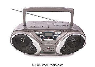 giocatore, mini-system, audio, radio