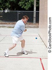 giocatore, racquetball, aggressivo