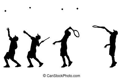 giocatore, tennis serve