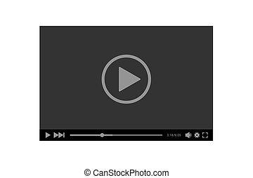 giocatore, vettore, illustrazione, web, video