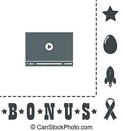 giocatore, vettore, video, web, illustrazione