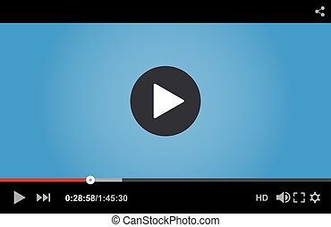 giocatore, video, vettore, web., illustrazione