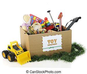 giocattoli, carità, natale