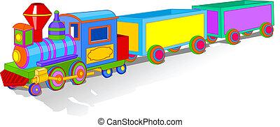 giocattolo, colorito, treno