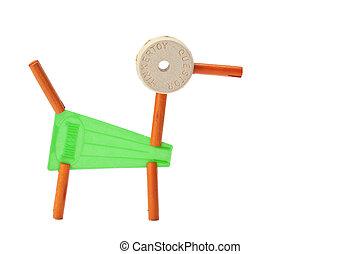 giocattolo, fatto, cane, tinker