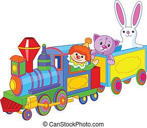 giocattolo, giocattoli, treno