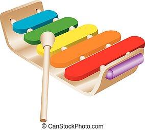 giocattolo, xilofono, bambino