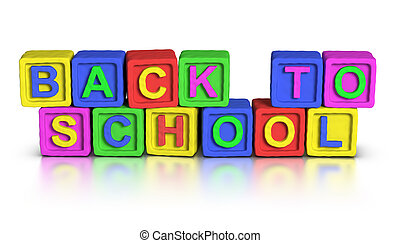 gioco, :, blocchi, scuola, indietro