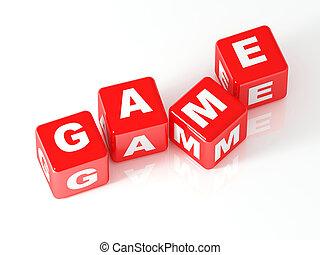 gioco, cubo, 3d