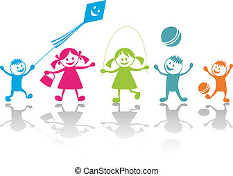 gioco, felice, bambini