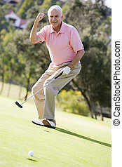 gioco, golf, gioco, uomo