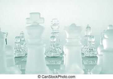 gioco, pezzi gioco scacchi