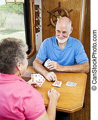 gioco, seniors, -, cribbage, rv