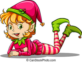 giocoso, carino, elfo
