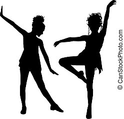gioia, bambini, ballo