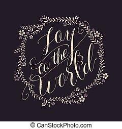 gioia, calligrafia, disegno, mondo