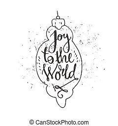 gioia, mondo
