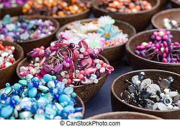 gioielleria, pietra, bello, colorato, beads.