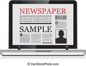 giornale, linea