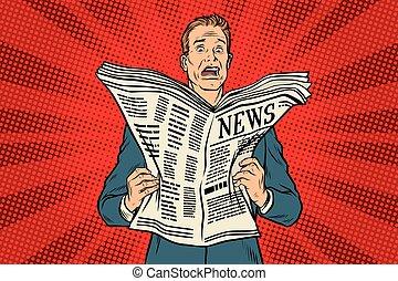 giornale, notizie, cattivo