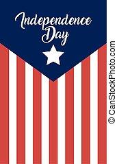 giorno, bandiera, indipendenza, stati uniti