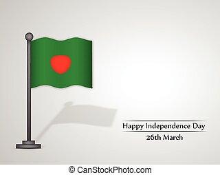 giorno, bangladesh, fondo, indipendenza