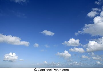 giorno, blu, soleggiato, cielo, nubi, bello, bianco