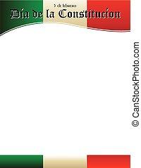giorno, costituzione, spagnolo, testata