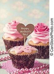 giorno, cupcake, madre